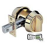 Mul-t-lock MT5+ Hercular Single Cylinder deadbolt w/Thumb turn - Bright Brass by Mul-T-Lock