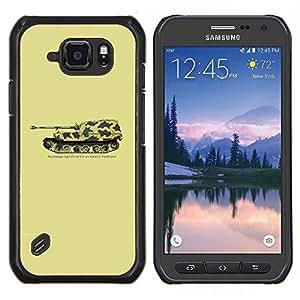 LECELL--Funda protectora / Cubierta / Piel For Samsung Galaxy S6Active Active G890A -- Arte Tank War Machine Desierto Dibujo --