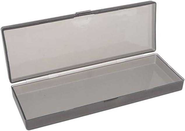 Hellery Lápiz Estuche para Lápices Cuentas De Plástico Caja De Almacenamiento Organizador Contenedores - Negro, Individual: Amazon.es: Hogar