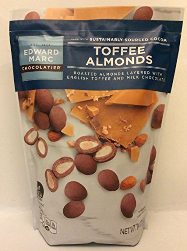 Almond Toffee Milk (Edward Marc Chocolatier Toffee Almonds Milk Chocolate 24oz Resealable Bag.)