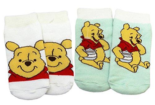 Disney's Winnie the Pooh Cute Infant Socks (2 Pairs, Size 12-18 (Pooh Socks)