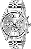 Michael Kors Men's Lexington Silver-Tone Watch MK8405
