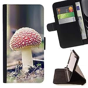 Momo Phone Case / Flip Funda de Cuero Case Cover - Psychedelic Rojo Mushroon;;;;;;;; - HTC Desire 820