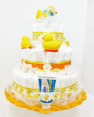 Suds & Bubbles Bath Time Ducky Gender Neutral Baby Diaper Cake
