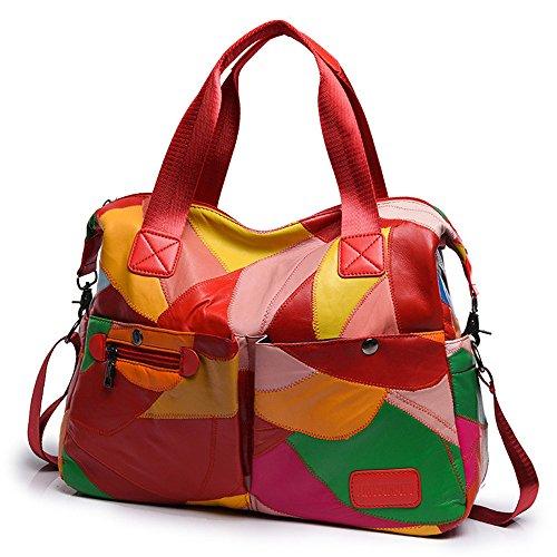 Moda La GWQGZ Bolsas De Moda Gules Gules Bolso Casual Cuero Hombro De Diagonal Nueva wqwEgxF1