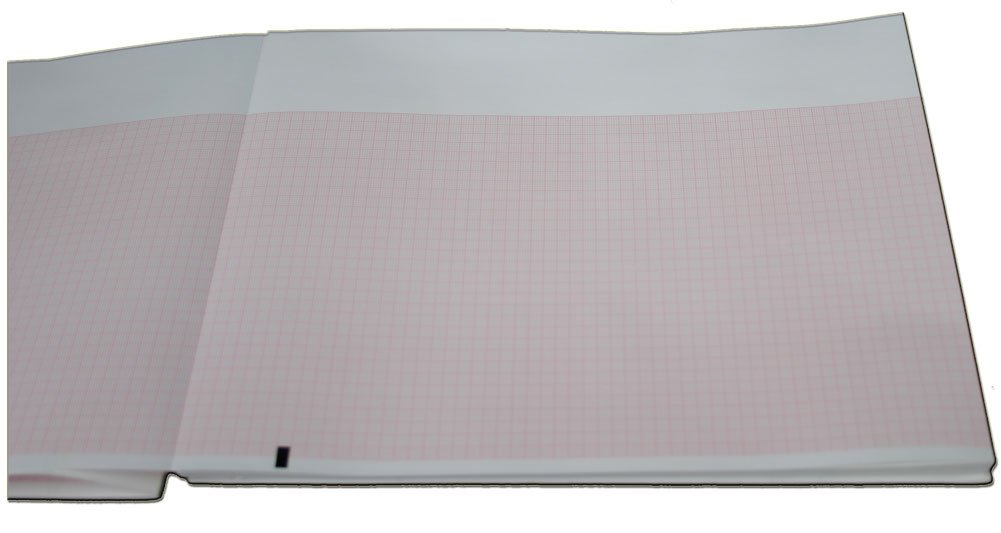 Mortara Chart Paper - 215mm X 280mm X 200 Sheets w/ White Header (10 Packs) by Quality Chart Paper (Image #1)