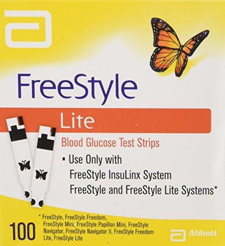 Bandelettes de Test de Glucose Lite freeStyle - 100 ct.