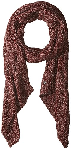 Boucle Knit Hand - LAUNDRY BY SHELLI SEGAL Women's Boucle Knit Bias End Scarf, garnet/peach whip, one size