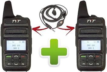 TYT_PROXEL MD-430 - Par de PMR 446 UHF analógico/digital DMR TIER I: Amazon.es: Electrónica