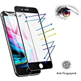 iPhone 7 iPhone 8 Matte Screen Protector Tempered Glass, Benks Anti-Glare Anti-Fingerprint Protective Film with 3D Full Coverage Soft Curve Edge Unbreakable Frame (Black for iPhone 8 7, 4.7-Inch)