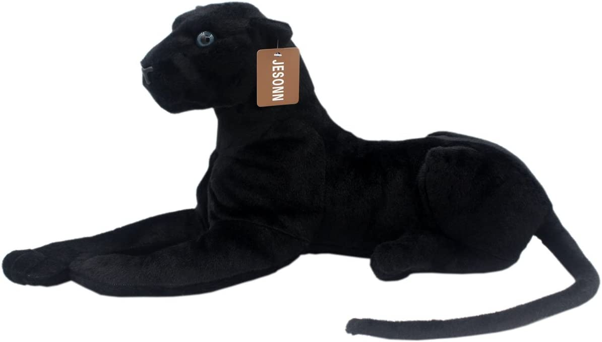 Large Giant Wild Black Panther Soft Plush Stuffed Animal Cuddly Toy Teddy