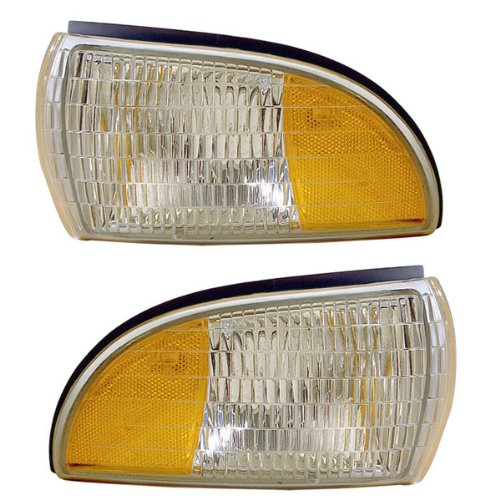 1991-1996 Chevrolet/Chevy Caprice & Buick Roadmaster Station Wagon, 1994-1996 Impala Corner Park Light Turn Signal Marker Lamp (Dual Bulb Type) Set Pair Right Passenger AND Left Driver Side (1991 91 1992 92 1993 93 1994 94 1995 95 1996 96)