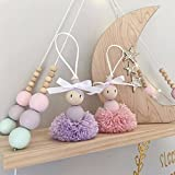 cheerfullus Nordic Style Floating Shelves Wooden Bead Plywood Shelf Bedroom Wall Decorative Stand Children's Room Dolls Storage Display Rack