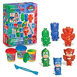 Cra-z-art Pj Masks Softee Dough 3d Figure Maker Action Figure Mold N Play
