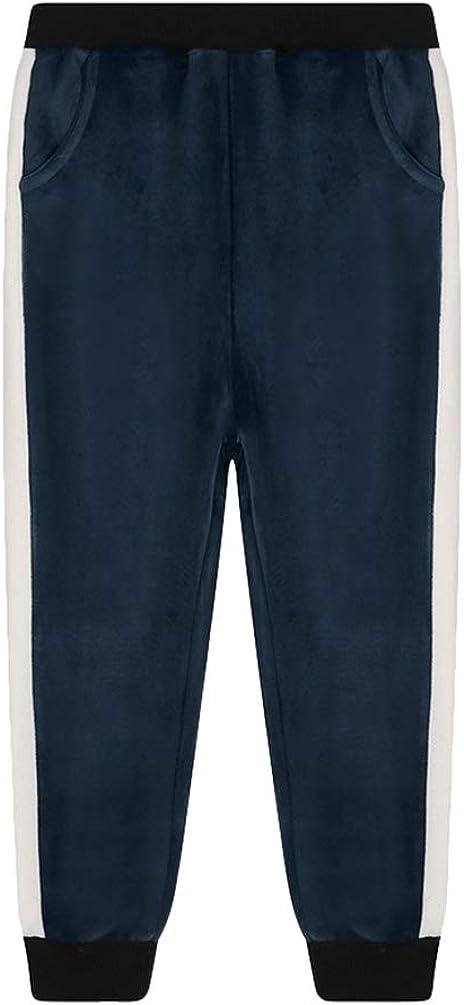 Lishui Kids Girls Boys Sweatpants Warm Thicken Autumn Winter Trousers Thermal Jogger Pants