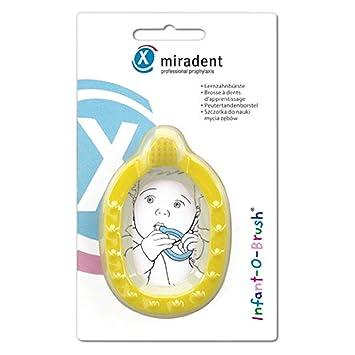 gelb Baby Zahnungshilfe beruhigt das Zahnfleisch MAM Bei/ßring Bite /& Brush ab 3+ Monate unterst/ützt die Zahnpflege mit extra-weichen Borsten