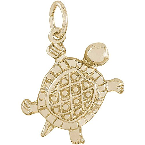 Turtle Charm Gold Plated - Rembrandt Charms Turtle Charm, Gold Plated Silver