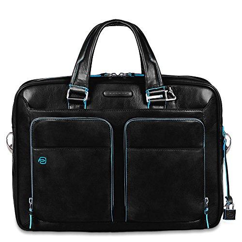 Piquadro Portfolio Computer Briefcase with iPad Compartment, Black, One Size by Piquadro