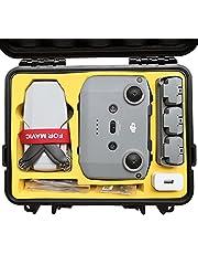 FPVtosky Waterproof DJI Mini 2 Case, Portable Compact Hard Carrying Case for DJI Mini 2 Fly More Combo, Mavic Mini 2 Accessories(Yellow)