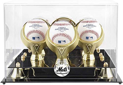 Mounted Memories New York Mets 3-Ball Acrylic Baseball Display Case ()