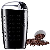Electric Coffee Grinder, Rackaphile Electric Spice and Coffee Grinder with Stainless Steel Blades Grinds Coffee Beans Spices Nuts and Grains One Touch Operation, Black