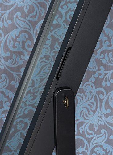 Kesser® Standspiegel Spiegel Schmuckschrank Spiegelschrank Schmuckkasten, Farbe:Schwarz -