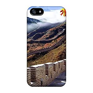 Premium Tpu The Great Wall Of China In Autumn Cover Skin For Iphone 5/5s