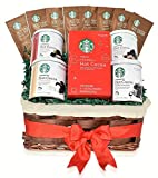 coffee and tea gift basket - Starbucks Hot Cocoa Mixed Occasional Gift Basket - Mother's Day Gifts - 5 Flavors: Double Chocolate, Peppermint, Salted Caramel, Marshmallow, Classic Hot Cocoa - Gifts for Family, Friends, Coworkers