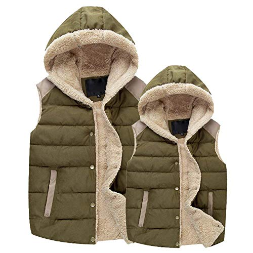 Jacket Unisex Retro Hood Mens Warm Winter Winter Ladies Exteriores Cotton De Armygreen Vestir Thicken Vest Prendas Chaleco PWPzr5x