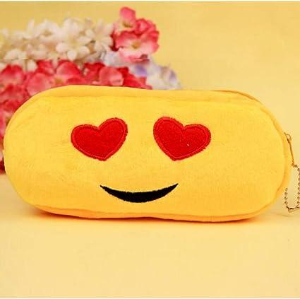 UHSKK Estuche Funny Emoji Pencil Case Cartoon Face Expression Plush Pencil Bag 16Pcs/Lot: Amazon.es: Oficina y papelería