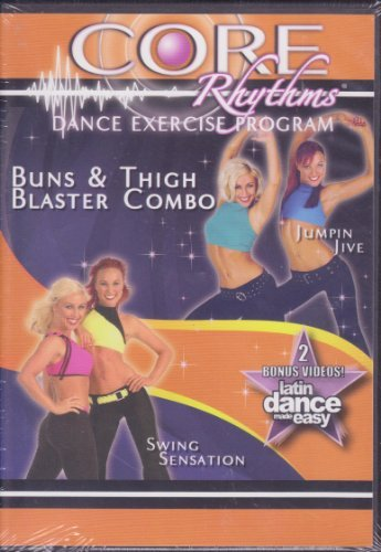 Core Rhythms Dance Excercise Program Buns Blaster & Thigh Combo Jumpin Jive / Swing Sensation Latin Dance Made Easy ()