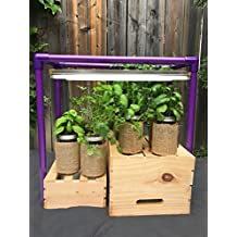Indoor Gardening Grow Light Hydroponic System with 2x T5 24W Lights Multi-Color Grow Rack for Indoor Plant Growth (Lavender Purple)