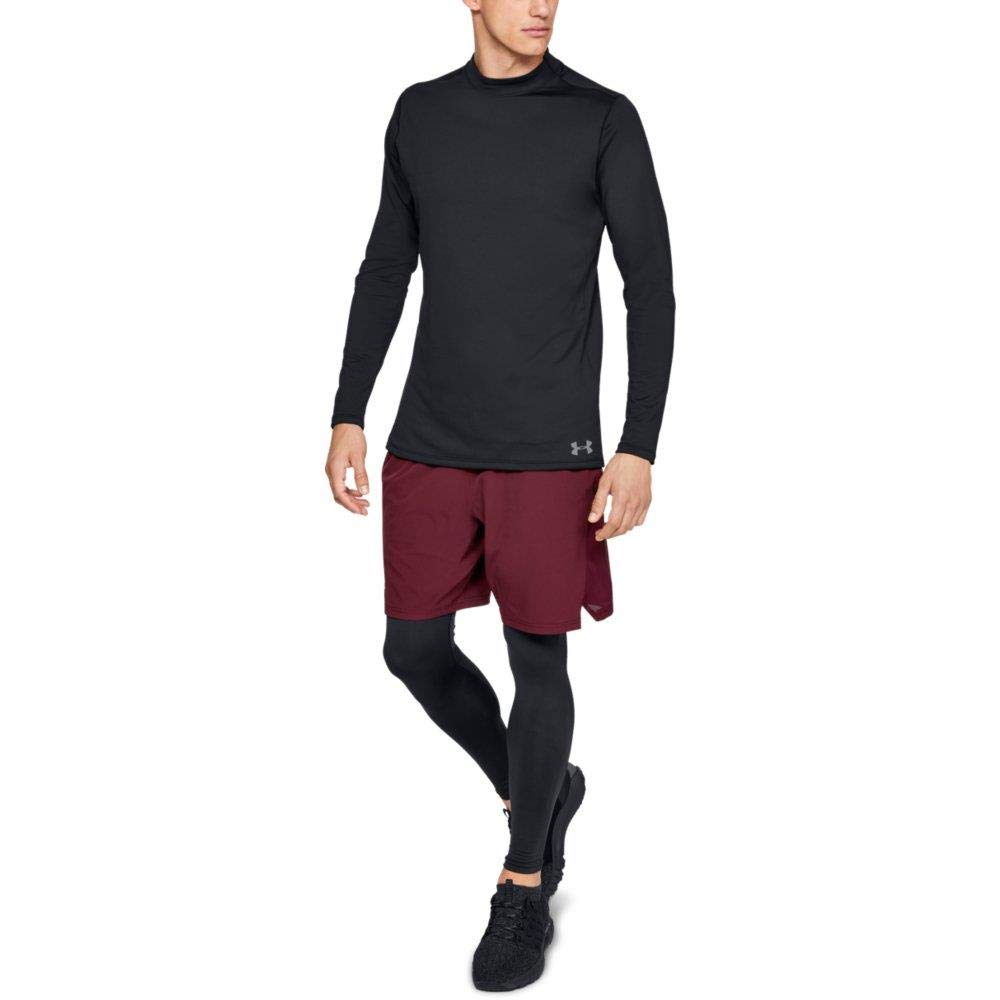 Under Armour Men's ColdGear Armour Compression Mock Long Sleeve Shirt, Black (001)/Steel, Large by Under Armour