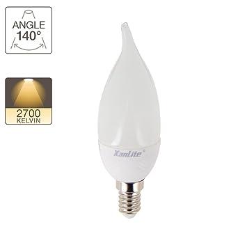 Xanlite EV250FC Ampoule LED E14 250 LM Flamme CV, Plastique + Verre, 3 W