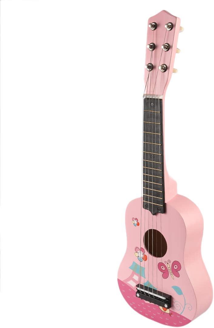 YAKOK Madera Guitarra Niño 6 Cuerdas 21 Guitarra Juguete para ...