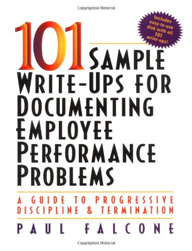 101 sample write ups for documenting employee performance problems download