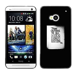 TopCaseStore / la caja del caucho duro de la cubierta de protección de la piel - The Box Inspiring Poster - HTC One M7
