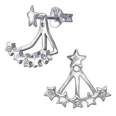 So Chic Jewels 925 Sterling Silver Cross Ear Studs