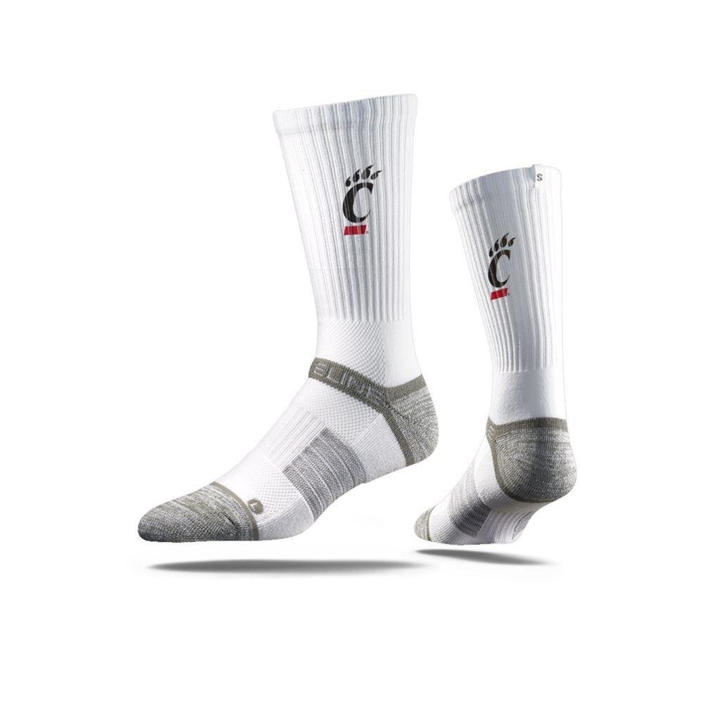Strideline White Cincinnati Bearcats Socks University of Cincinnati Apparel