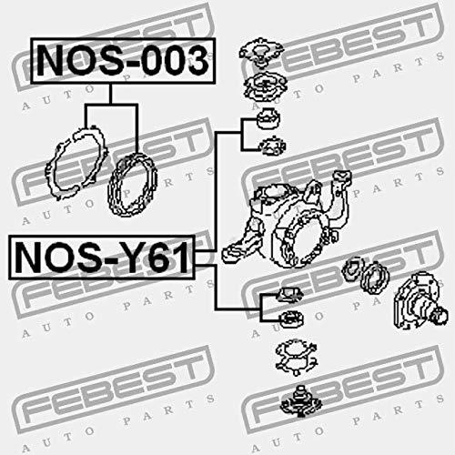 NOS-003 Febest /ÖLDICHTUNGEN F/ÜR RADLAGERGEH/ÄUSE REPARATURSATZ