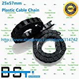 Ochoos 1 Lot(10 Meter) 25mm57mm CNC Plastic Cable Drag Chain TP2557 Cable Carrier Open Type for CNC Router