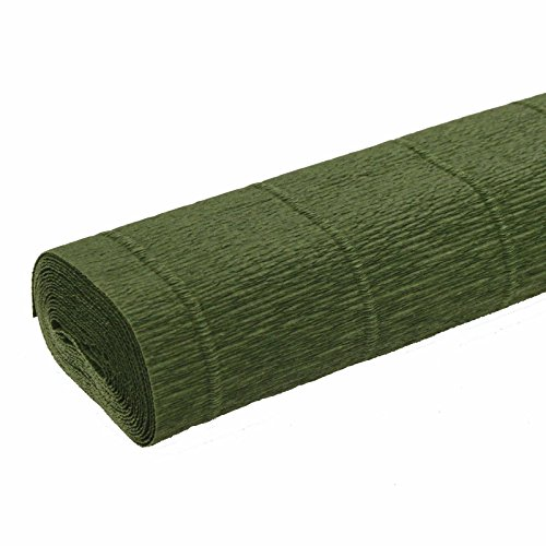- FloristryWarehouse Leaf Green 591 Crepe paper roll 20 inches wide x 8ft long. Top quality Italian paper craft