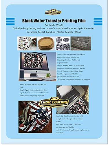 photograph about Printable Water Transfer Film named Hydrographics Movie - Blank Drinking water Move Printing Movie - A4