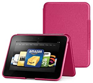 """Amazon Kindle Fire HD 7"""" (Previous Generation) Standing Leather Case, Fuchsia (will only fit Kindle Fire HD 7"""", Previous Generation)"""