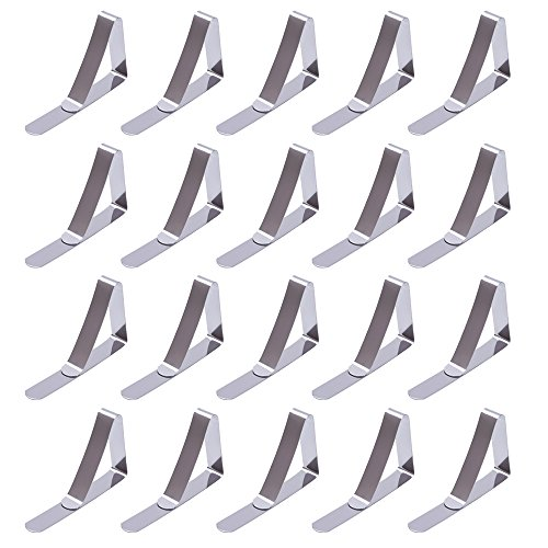 Outus Tablecloth Clips Table Cover Clamps, Stainless Steel, 20 Pack by Outus