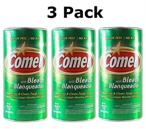 Comet Disinfectant Powder Cleanser With Bleach 14 OZ ( 3 Pack)