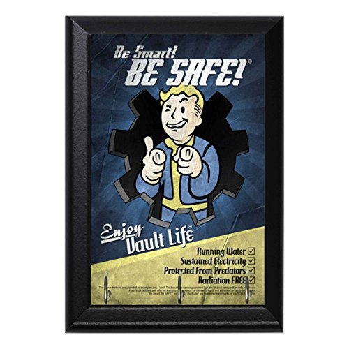 Be Smart Be Safe Enjoy Vault Life Decorative Wall Plaque Key Leash Coat Jewlery Hook Holder Hanger 8