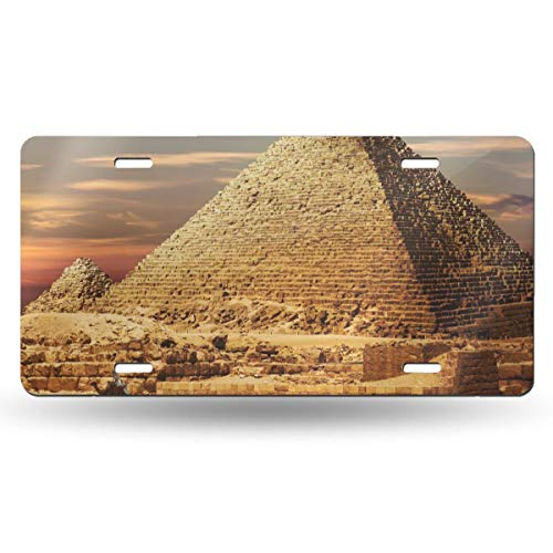 Suining Ancient Egypt Pyramids Retro Vintage Tags - License Plates - Automobile Cafe Bar Pub Home Wall Decoration 6x12 in -