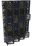 VintageView Case & Crate Metal Wine Rack Locker - Full Height - Capacity 384 Bottles