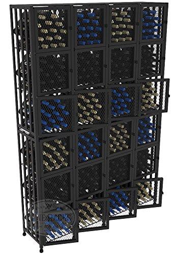 VintageView Case & Crate Metal Wine Rack Locker - Full Height - Capacity 384 Bottles (Lockable Wine Cellar)